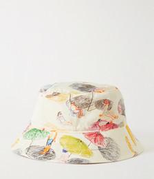 Reversible Printed Cotton-Canvas Bucket Hat