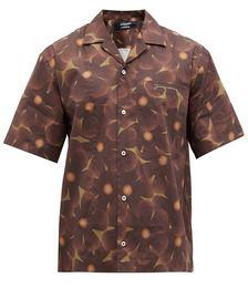 Floral-print Cotton-poplin Short-sleeve Shirt