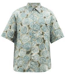 Sale Sloral-print Cotton-blend Shirt