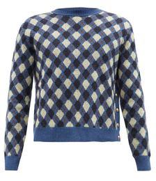 Williams Argyle Merino Wool-blend Sweater