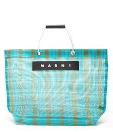 Check Medium Nylon Tote Bag