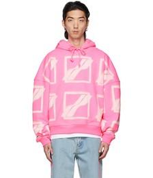 Pink Big Logo All Over Hoodie