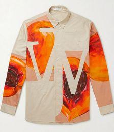Logo-Appliquéd Printed Cotton-Poplin Shirt