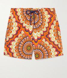 Moorea Printed Mid-Length Swim Shorts