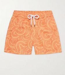 Sport Slim-Fit Short-Length Printed Swim Shorts