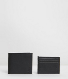 Bifold Wallet & Card Holder Gift Box Set