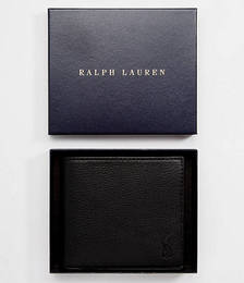 Leather Billfold Wallet with Coin Pocket in Black