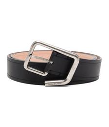 Engraved-logo Buckle Belt