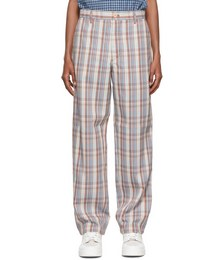 Multicolor Wool Checked Trousers