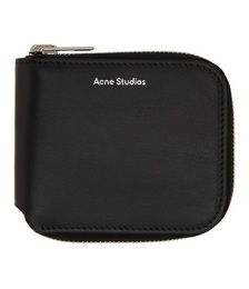 Black Compact Zip Wallet
