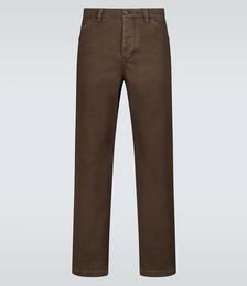 Aleq Straight-fit Cotton Pants