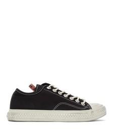 Black Canvas Low-Top Sneakers