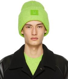 Green Wool Patch Beanie