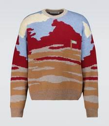 Jacquard Crewneck Sweater