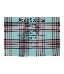 Blue & Purple Wool Tartan Check Scarf