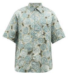 Sale Floral-print Cotton-blend Shirt