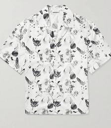 Resort Camp-Collar Floral-Print Cotton-Voile Shirt