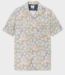 Men's Off-White 'Acetate Floral' Print Short-Sleeve Shirt