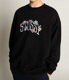 Flowers 50/50 Crew Sweater in Black