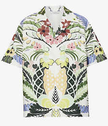 Floral-print Relaxed-fit Cotton Shirt