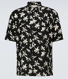 Short-sleeved Floral Silk Shirt