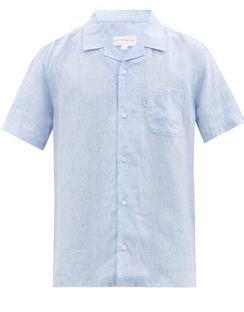 Monaco Linen Short-sleeved Shirt