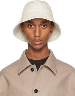 Off-White Cotton Bucket Hat