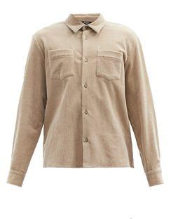 Joe Patch-pocket Cotton-blend Corduroy Shirt