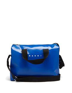 Tribeca Bi-colour PVC Messenger Bag