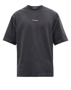 Extorr Embroidered-logo Crew-neck Cotton T-shirt