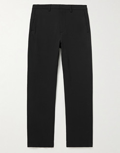 Slim-Fit Tapered Cropped Shell Trousers