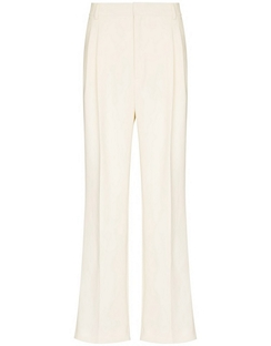 Pleated High-waisted Trousers