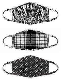 Assorted 3-Pack Adult Face Masks