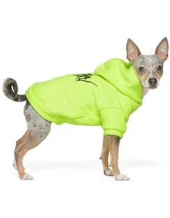 Yellow Goth Dog Hoodie