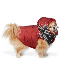 Reversible Red Poldo Dog Couture Edition Sweater Knit Jacket
