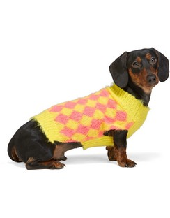SSENSE Exclusive Yellow & Pink Dog Sweater