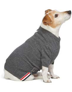 Grey Cashmere 4-Bar Dog Sweater