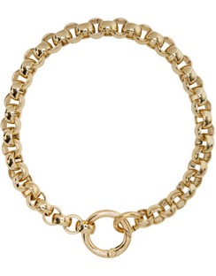 SSENSE Exclusive Gold Rolo Collar
