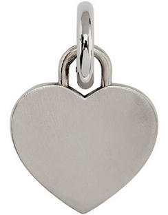 SSENSE Exclusive Silver Heart Collar Charm