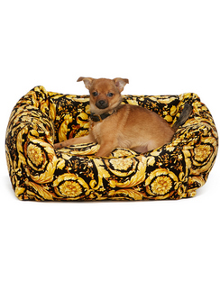 Black Barocco Dog Bed