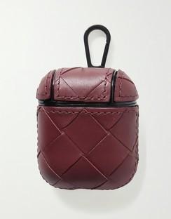Intrecciato leather AirPods case