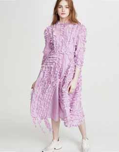 Trimming Frill Dress