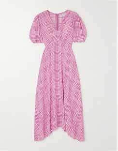 Vittoria Checked Crepe Midi Dress