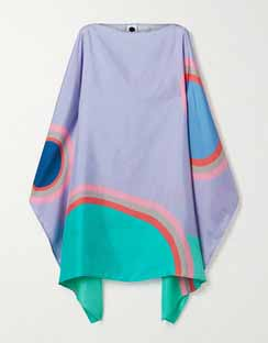 Gabo Printed Silk-Twill Dress