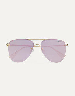 The Prince Aviator-Style Mirrored Sunglasses
