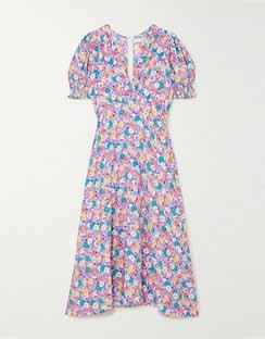 Marie-Louise Floral-Print Crepe Midi Dress