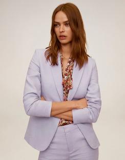 Linen Button Blazer
