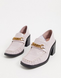 Security Chunky Mid-Heeled Loafers