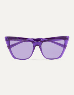 Oversized Cat-Eye Acetate Sunglasses