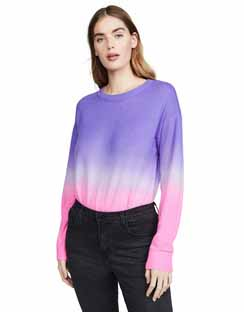 Gleeson Dip Dye Long Sleeve Cashmere Pullover